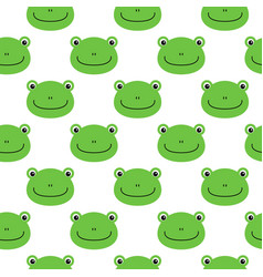 frog pattern seamless pattern flat frog cartoon vector image