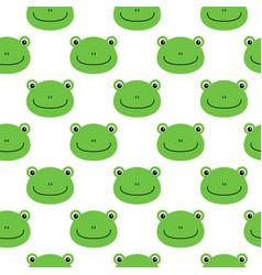 frog pattern seamless pattern flat frog cartoon vector image