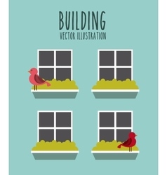 front building vector image