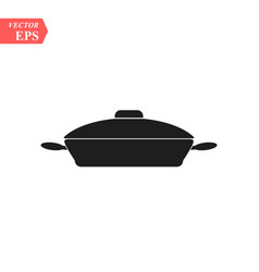 frying pan icon concept for design vector image