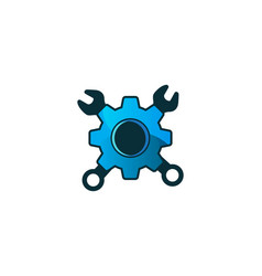 gear and repair tool logo designs inspiration vector image