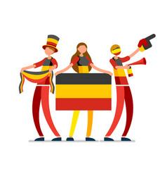 german flag germany people day vector image