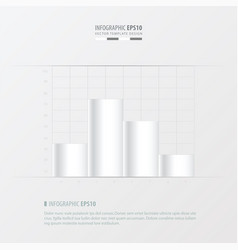graph and infographic design white color vector image