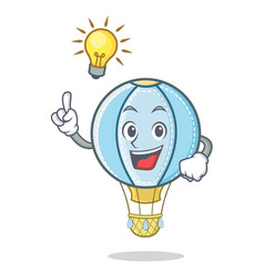 Have an idea air balloon character cartoon vector