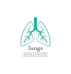 Human lungs logo design template vector
