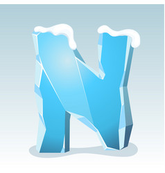 Ice letter n vector