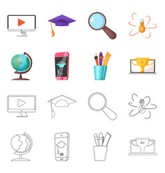 isolated object education and learning icon vector image