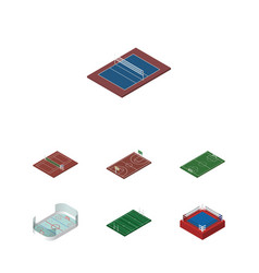 Isometric competition set of ice games american vector