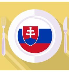 Kitchen of Slovakia vector