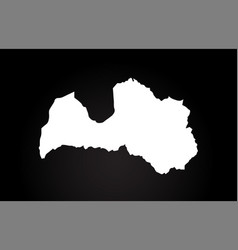 latvia black and white country border map logo vector image