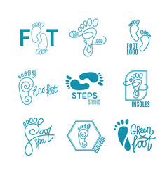 logo of center of healthy feet vector image