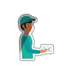 mailman delivery service vector image