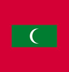 maldives flag flat style vector image