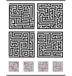 maze game set vector image