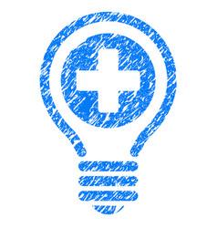 Medical bulb grunge icon vector