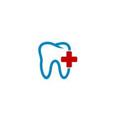 medical dental logo icon design vector image