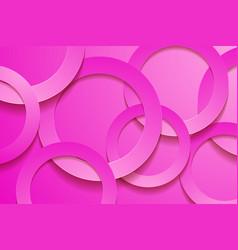 Modern pink backgrounds 3d circle papercut layer vector