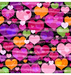Motley seamless valentine pattern vector image