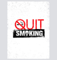 No smoking sign stop smoke symbol rough vector