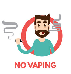 No vaping icon vector