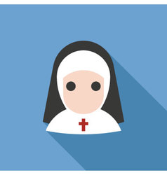 Nun icon vector image