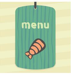 outline sushi shrimp japan food icon modern logo vector image