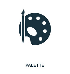 palette icon line style icon design ui vector image