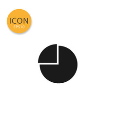 pie chart icon isolated flat style vector image
