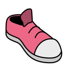 Pink sneaker sport vector