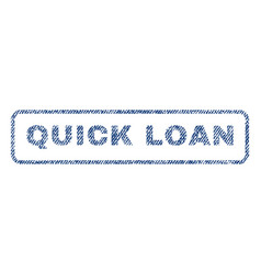 Quick loan textile stamp vector