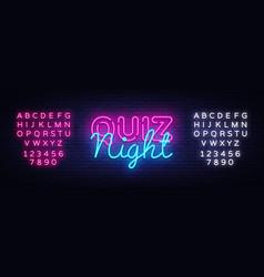 Quiz night announcement poster design vector