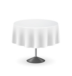 realistic detailed 3d blank round table vector image