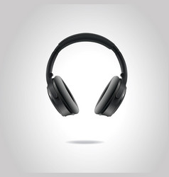 realistic studio headphones eps10 vector image
