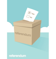 Referendum Ballot Box vector