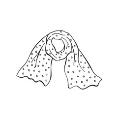 Scarf outline icon vector