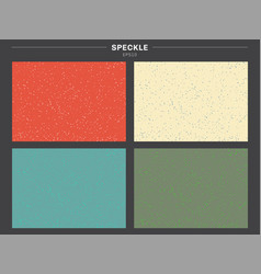 set of retro color tone background speckle vector image