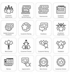 Simple set of testimonials related icons vector