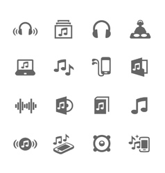Simple Sound Icons vector image