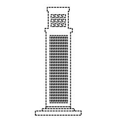 skyscraper building isolated icon vector image