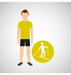 sport man concept skiing icon design vector image