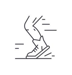 sport running line icon concept sport running vector image