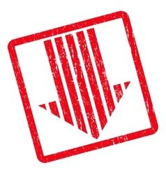 Stripe Arrow Down Icon Rubber Stamp vector
