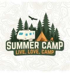 Summer camp live love camp patch vector