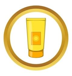 Sun lotion icon vector