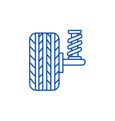 suspension car auto line icon concept vector image