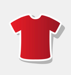 t-shirt sign new year reddish icon with vector image