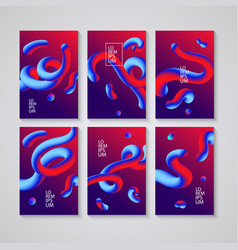 Trendy abstract covers futuristic design posters vector
