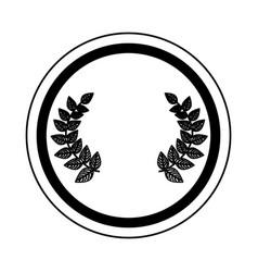 Wreath leafs crown emblem vector