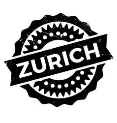 Zurich stamp rubber grunge vector image
