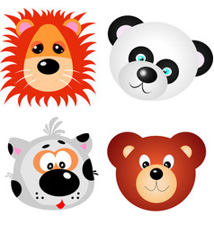 animal faces clip art design vector image vector image